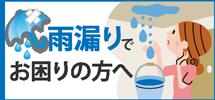 静岡市駿河区、葵区、清水区やその周辺エリアで雨漏りでお困りの方へ