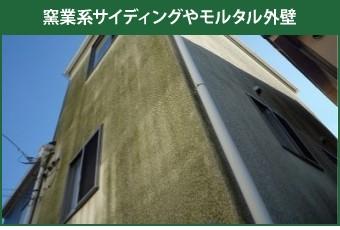 藻の生えた窯業系サイディングやモルタル外壁