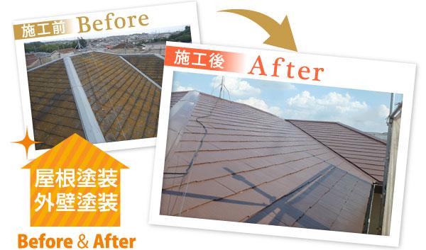 屋根塗装・外壁塗装のビフォーアフター