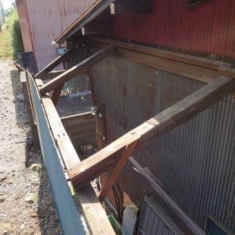 倉庫屋根解体