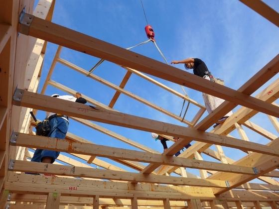 垂木の設置