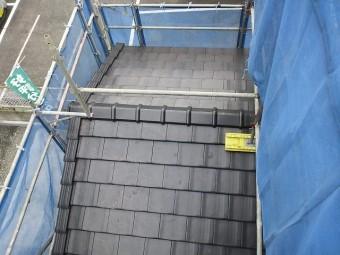 屋根瓦施工