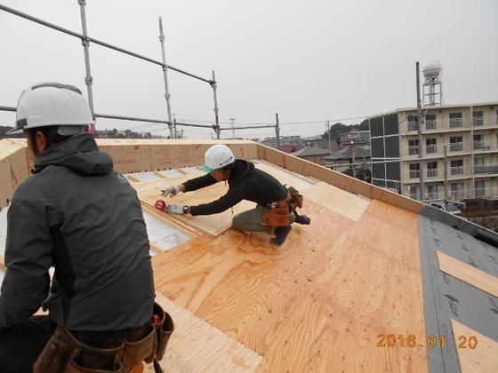 屋根下地二重