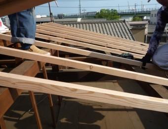 屋根修繕垂木