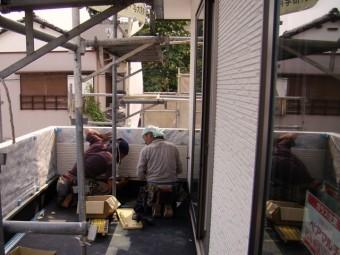 外壁施工作業