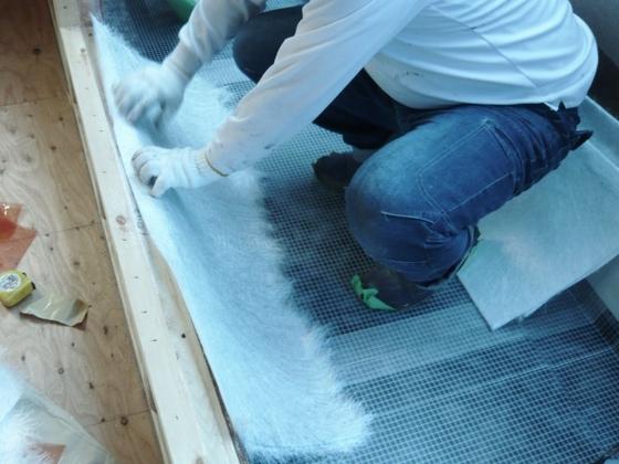 葵区瀬名で、ベランダ防水工事終わりました